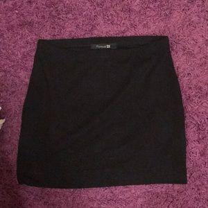 Forever 21 Black Stretch Skirt
